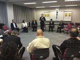 精華町長選挙個人演説会