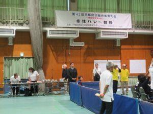 京都府民体育大会種目別交流大会卓球バレー競技