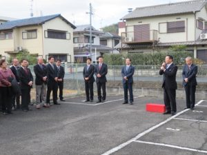 【八幡市長選】事務所開き